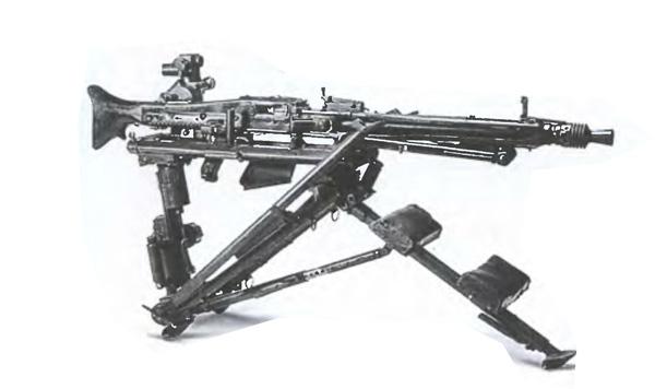 Пулемет МГ-42 на треноге