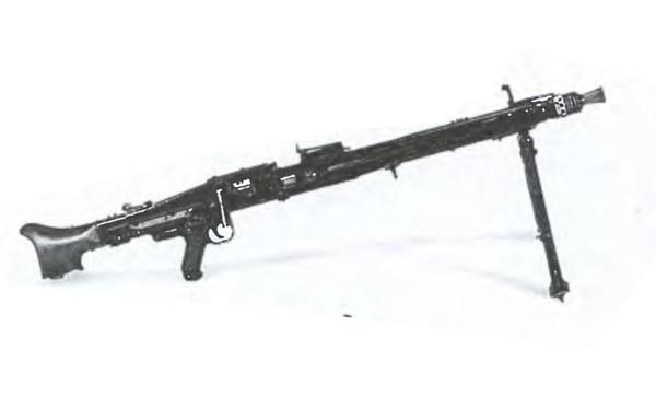 Пулемет МГ-42 на сошках