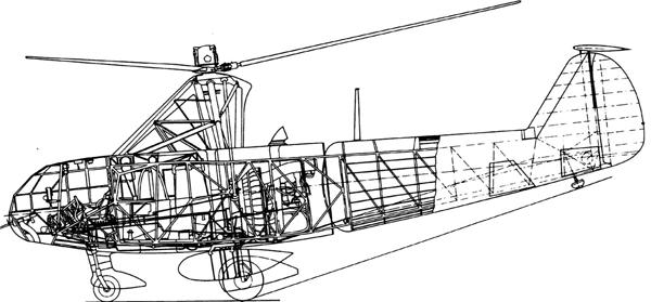 Вертолет Focke-Achgelis Fa 223 «Drache» Фокке-Ахгелис  «Драхе» («Змей»)